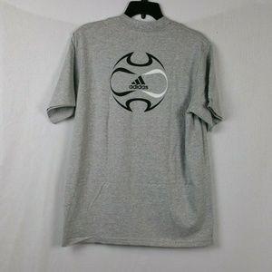 Adidas Mens TShirt Sz XL Gray NWT Soccer